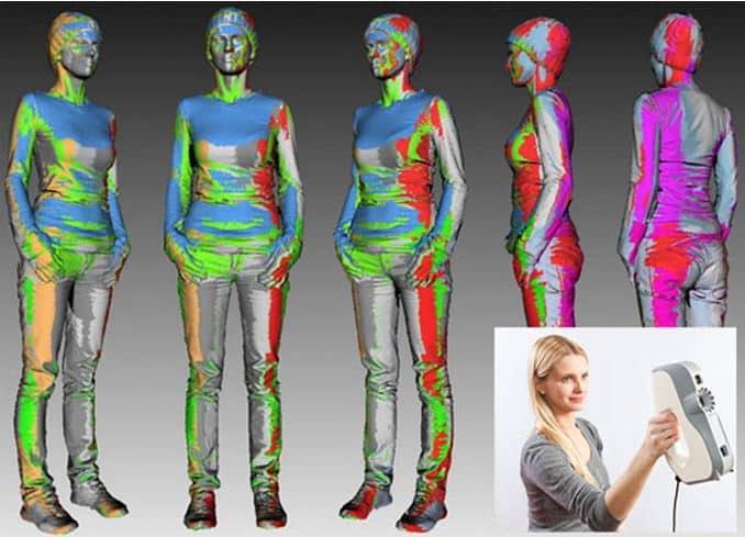 berührunsloser 3D-Handscanner für große Objekte Personen Frauen Männer Kinder Haustiere Tier in sekundenschnelle Roboter-3D-Drucker