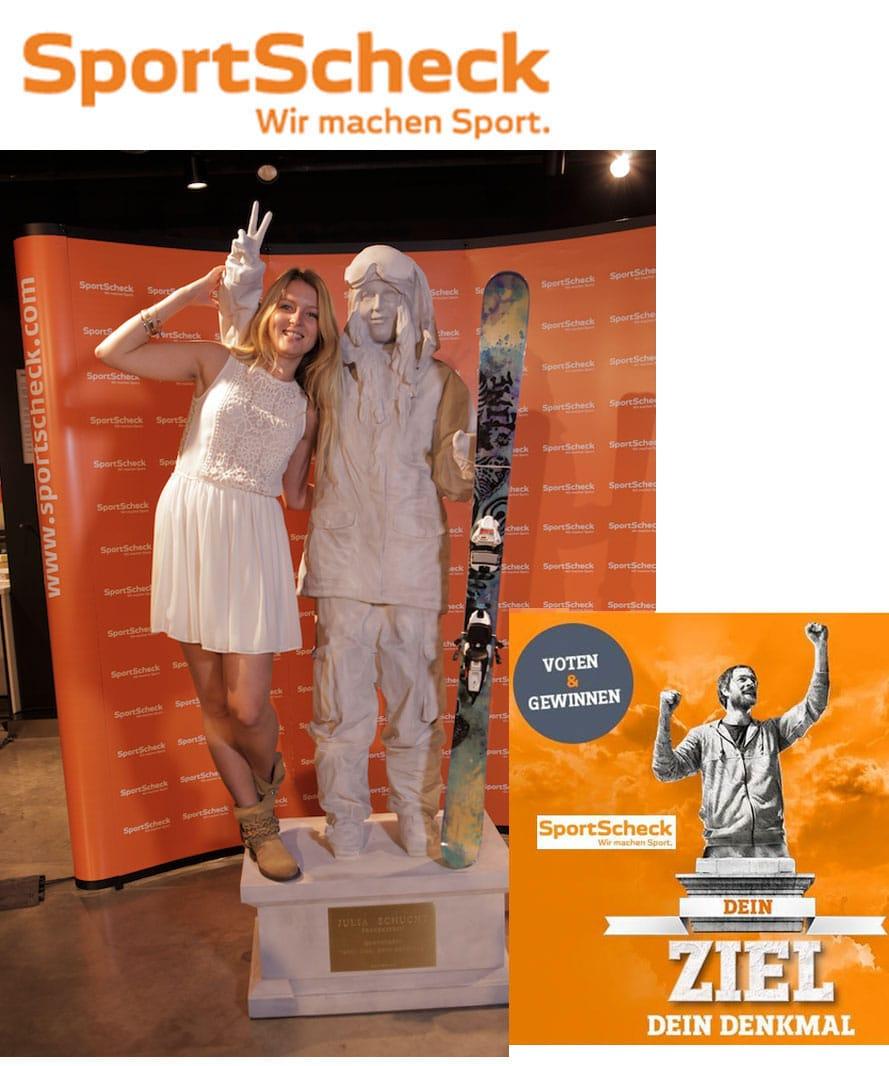 Gewinnerin Markenkampagne SportScheck, 3D Ideen, 3D Figuren, 3D Produktion,3D-Roboter 3D-xxl-Druck große Figuren