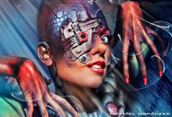 kreative Airbrushbemalung, Award Herstellung, künstlerisches Malen, überraschend fotorealistisch, Kunstwerke in Farbe