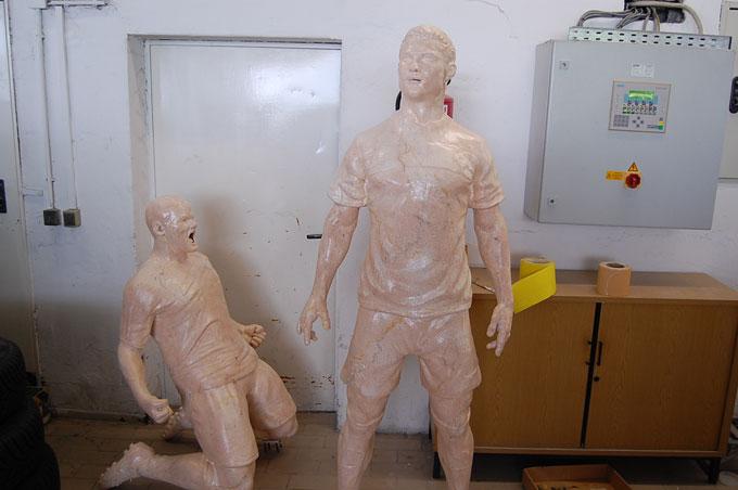 Roony und Ronaldo 3d Culture-Marmor-Look, Herstellung 3D-Druck PU-Schaum