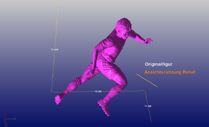 wm_3d_culture_Modellierung Nike-Fußballspieler gigantische Werbemaßname mit Nike und 3D Culture, Sportler des Jahres in 3D, WM-Gewinner dreidimensionale Sportler,