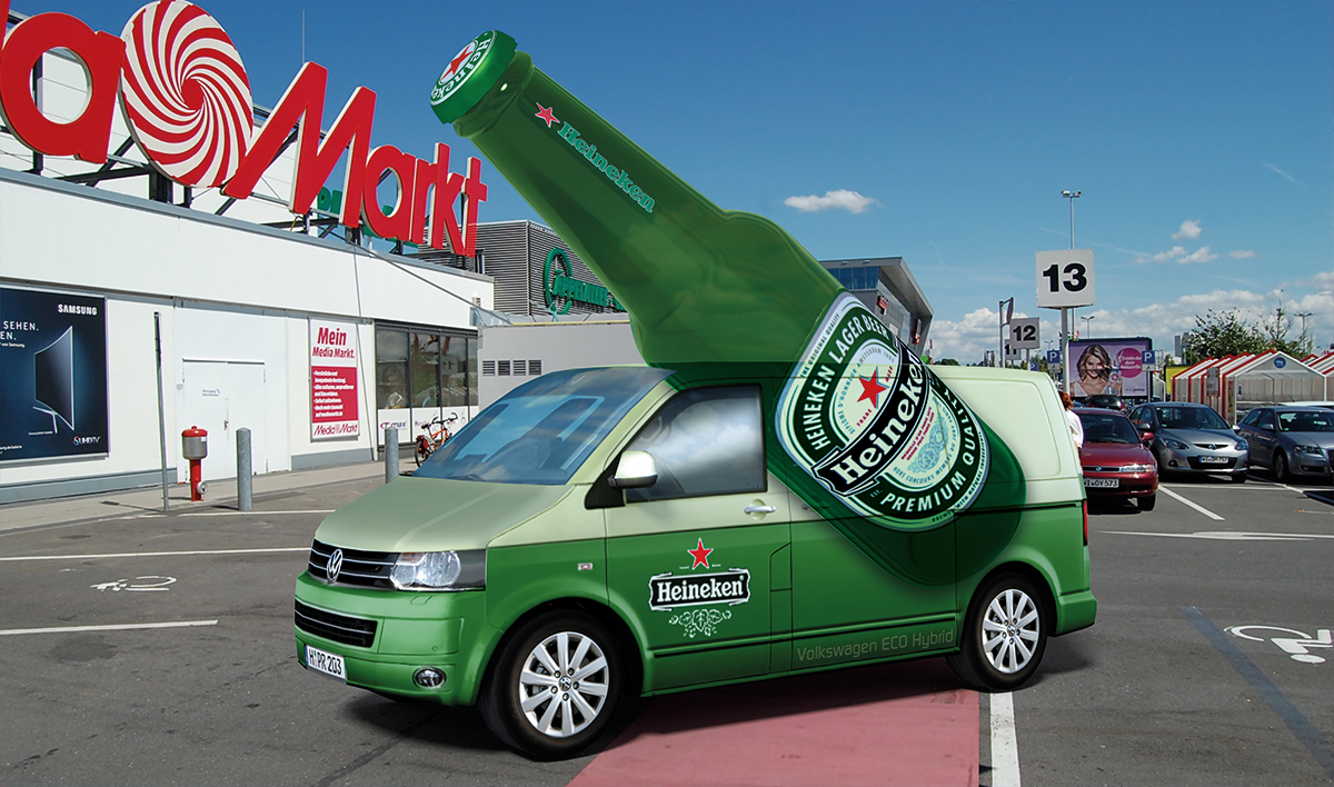 mobile Werbung Auto 3D, Modellbau-Messebau XXL groß lebensgroß Prototypen dreidimensional,