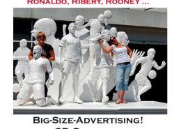 Menschen Figuren Skulpturen 1:1 groß riesengroß lebensgroß XXL gigantisch, Spezialist lebensgroße individuelle Figuren Skulpturen Messeobjekte Event-Objekte 3D-Druck XXL groß riesig lebensgroß Messe-Objekte GFK Produkte Werbung Film Bühnen-Ausstattung Adidas Puma Nike 3D Culture 3D Kultur, Big-Size-Advertising! 3D Culture - The Milestone.Company, Nike-Fußballstars im 3D Druck für die WM hergestellt. Ronaldo, Ribéry, Rooney …, xxl design, design produktion, gfk sonderanfertigung, gfk modellbau, GfK-Spezialist 3D Culture, modellbau galerie, xxl galerie, gfk form aus styropor, xxl modellbau, GfK-Spezialist 3D Culture, modellbau gfk, modellbau xxl, styropor modellbau, xxl design, gfk sonderanfertigung gfk modellbau, modellbau galerie, gfk form aus styropor, modellbau gfk gfk teile anfertigen lassen, 3D-produktion design, holzmodellbau werkzeug, modellbau xxl, gfk teile plastiken herstellen, gfk formenbau-styropor, modellbau und design, Groß-plastiken, Gf-Spezialist 3D Culture, Event-objekte, Messe-objekte Event Objekte, Messe Objekte, 3D-Messeobjekt, 3D-Grossplastiken, große Werbung, große Figuren, modellbau gfk, gfk teile anfertigen lassen, produktion design, holzmodellbau werkzeug, Herstellung von Modellen und Formen in Styropor, Holz und Kunststoff für Produktion, Design oder Werbung. 3D XXL Design riesig riesengroß übergroß vergrößert überdimensional gigantisch Plastik Statue Figuren Skulpturen Objekte Produkte Artikel Modell Eyecatcher Blickfänger Dummy für Events Veranstaltungen Werbung Marketing 3D Culture. große lebensgroße Werbung, große lebensgroße Werbefiguren.